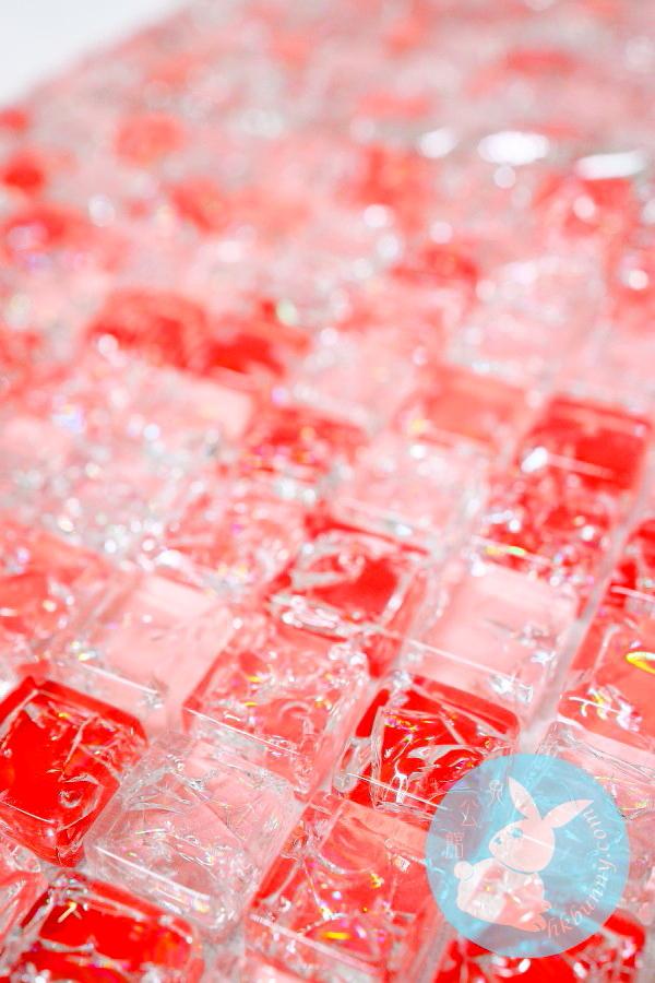水晶破璃散熱板(紅色)