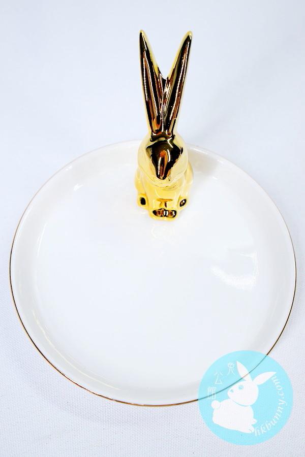 金色小兔碟