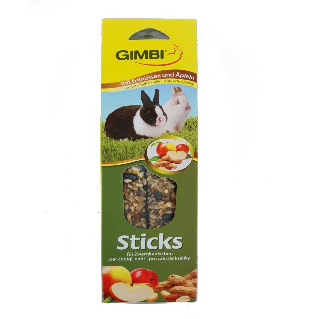 Gimbi 兔仔花生蘋果滋味磨牙棒2pcs