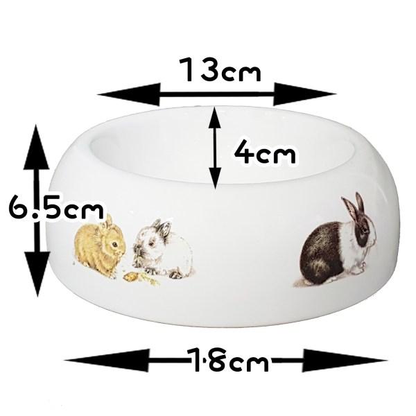 小兔圖案食物碗糧兜(大)