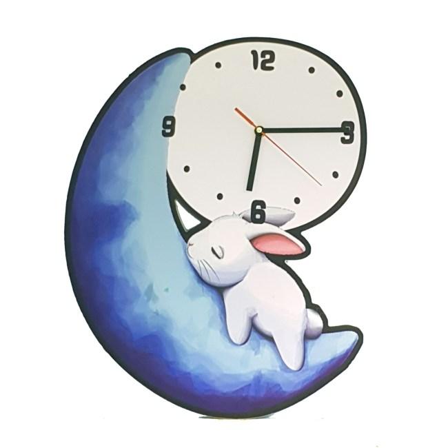 月亮兔子掛鐘