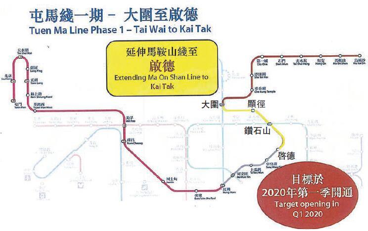 屯馬線一期定明年首季開通 先啟用3車站 大圍至鑽石-香港商報