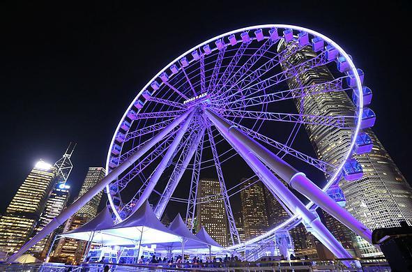 【中環。景點】香港摩天輪 | 維多利亞港旁的浪漫夜景 | 懶人遊香港