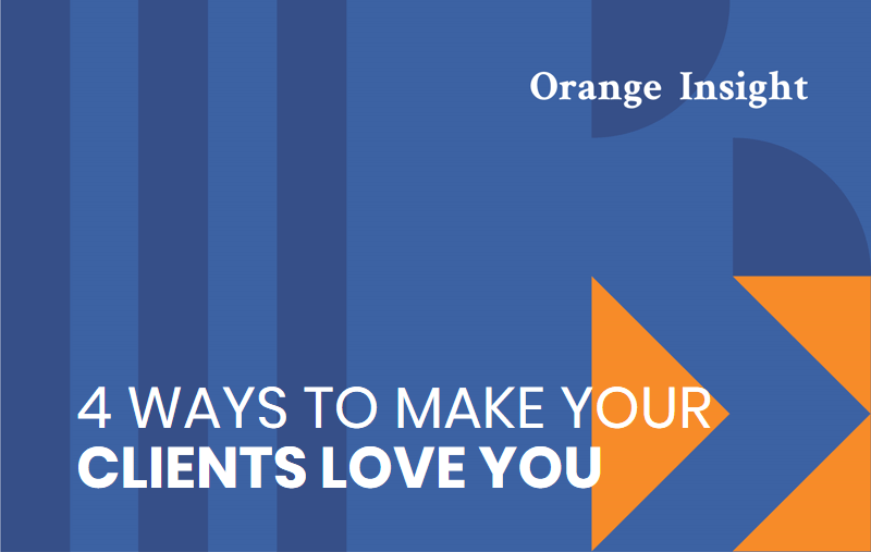 Blue graphic header reading 4 ways to make your clients love you