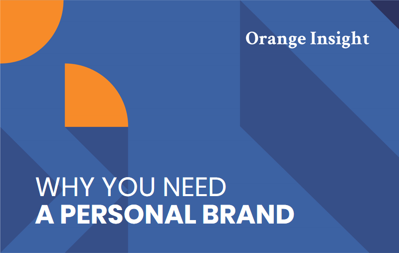 Graphic header reading why you need a personal brand