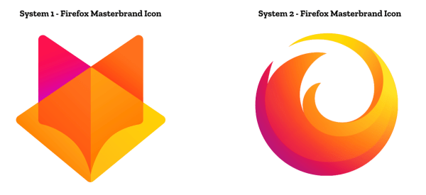 Systems 1 and 2 Firefox Masterbrand icons