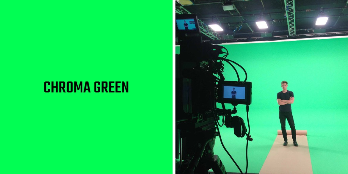 Chroma Green, the LA28 accent colour inspired by Hollywood's green screen innovation.