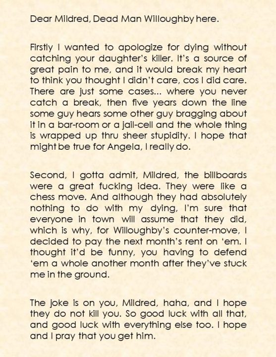 Willoughby Letter to Mildred