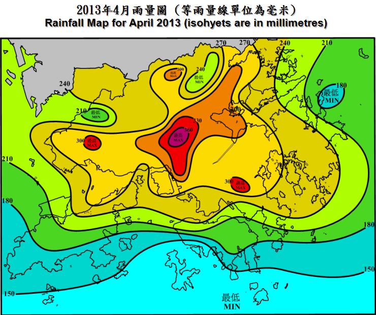 二零一三年四月天氣回顧 |香港天文臺(HKO)|過去天氣