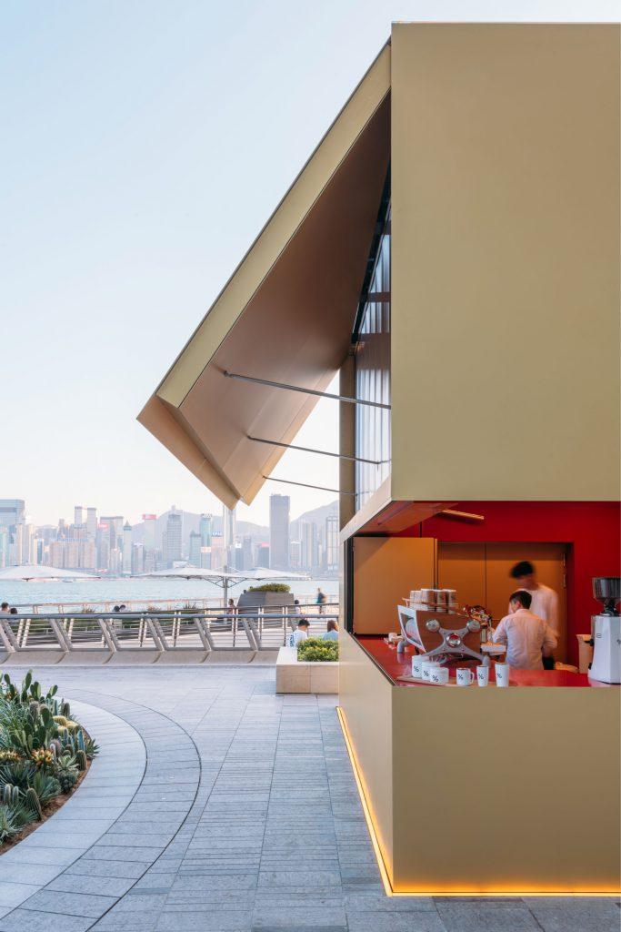 尖沙咀咖啡:【京都咖啡品牌!維港海旁金色立方咖啡亭!】- % Arabica - 香港人遊香港