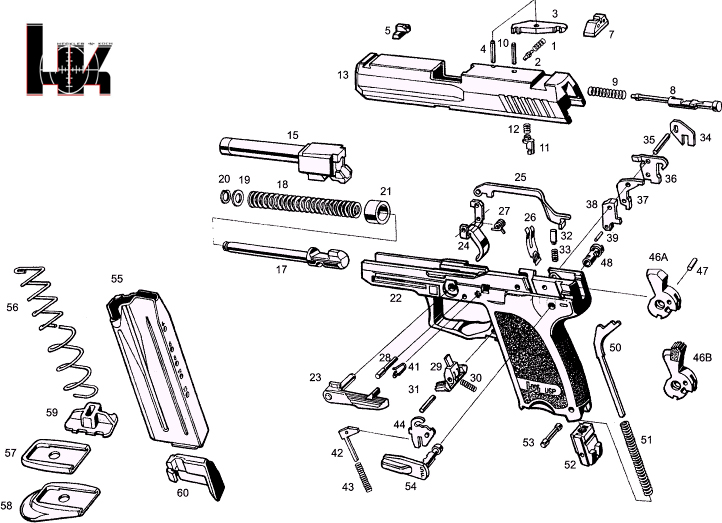 Does anyone have a list of internal USP parts?