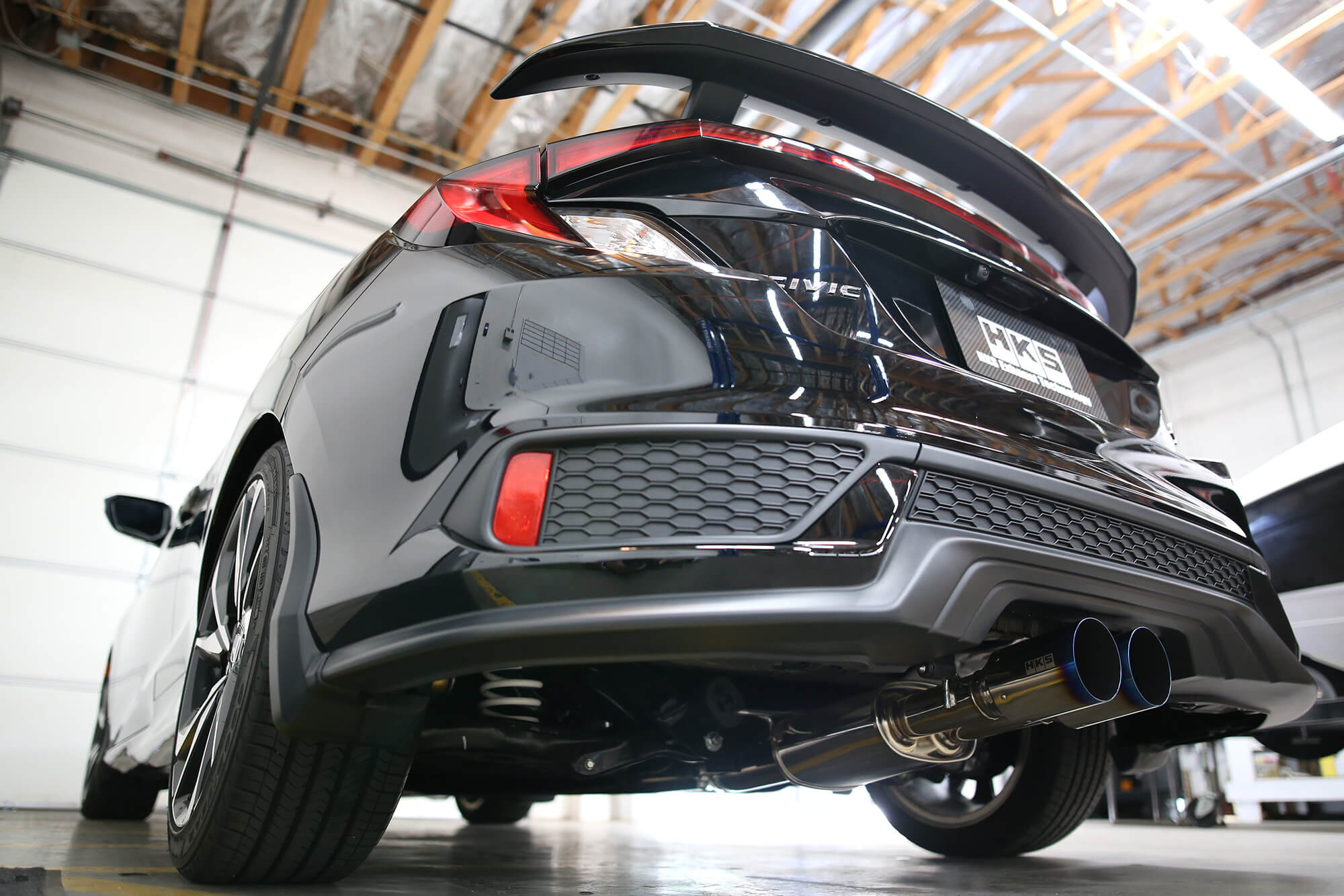new hi power exhaust for si coupe hks usa