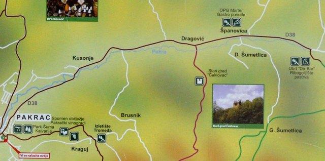 Cesta Pakrac – Kusonje – Španovica – Bučje