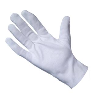 guantes de algodon blanco