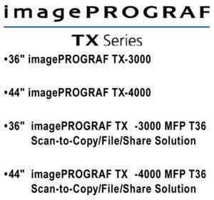 imagePROGRAF TX Series iPF TX-3000/TX-4000