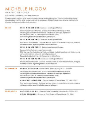 Top 10 Best Resume Templates Ever Free For Microsoft Word