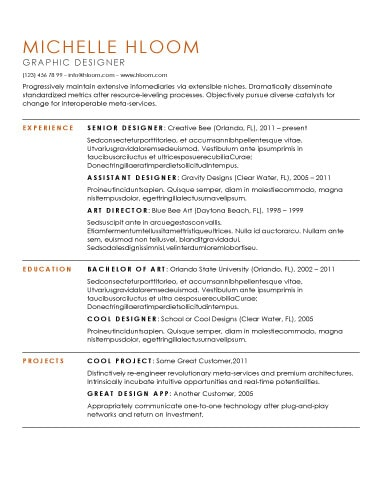 Resume Templates Open Office