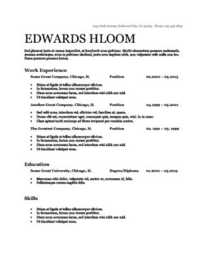 ATS Friendly Resume Templates Format 27 Samples