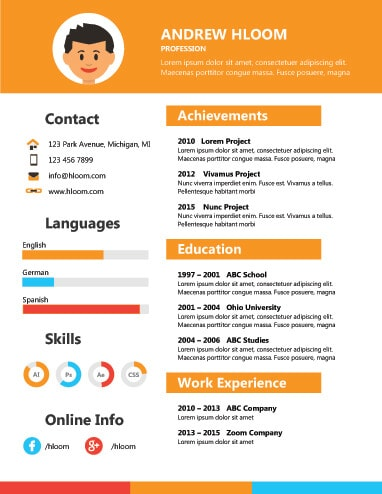 17 Infographic Resume Templates Free Download