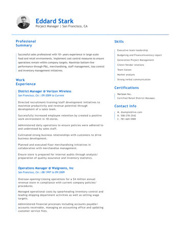 Resume Examples For Any Industry Free Resume Builder