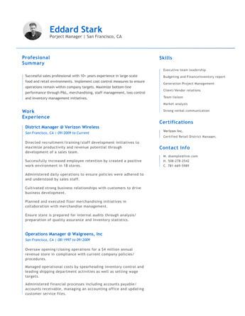 Resume Examples • Hloom Com