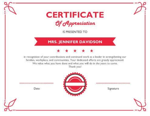 124 Free Printable DIY Certificate Templates