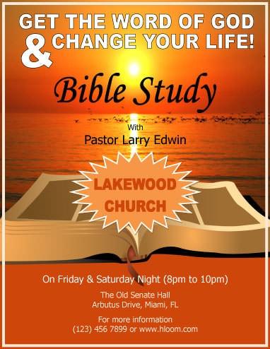 church flyers templates free