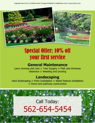 lawn care flyers free examples
