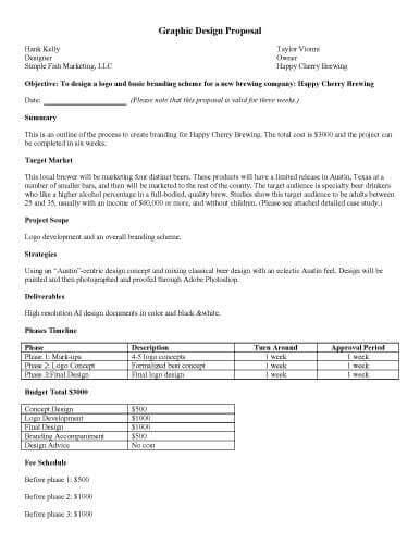 32 sample proposal templates