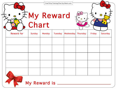 hello kitty potty chair painted table and chairs uk training charts for boys girls 39 printable examples reward chart