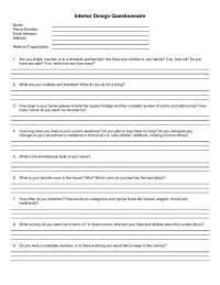 Interior Design Questionnaire For Clients | Brokeasshome.com