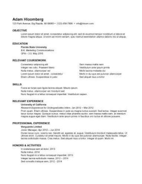 Resume For Internship 998 Samples 15 Templates How To Write  How To Make Resume Example