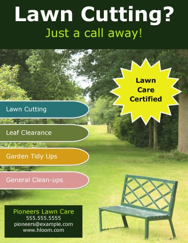 15 Lawn Care Flyers Free Examples Advertising Ideas