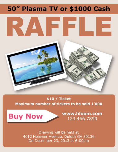 16 Free Raffle Flyer Templates: prize, cash, 50/50, fundraising, and ...