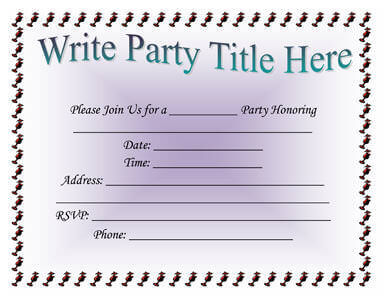26 free printable party