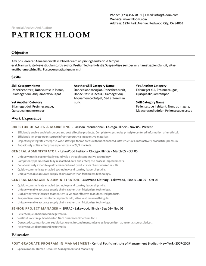 Creating the perfectly formatted, custom tailored resume has never been easier. 18 Free Professional Resume Templates Hloom