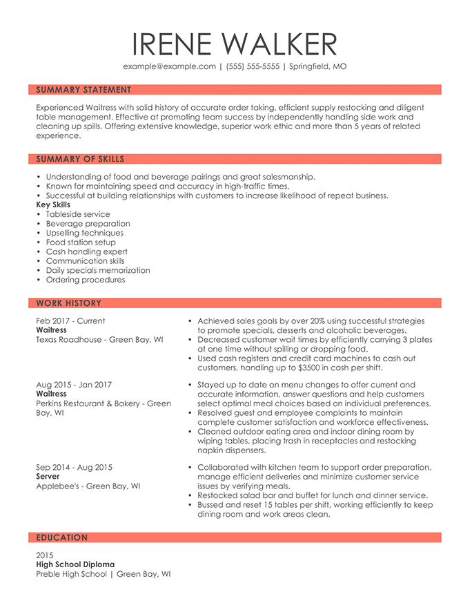 combination resume examples for career change