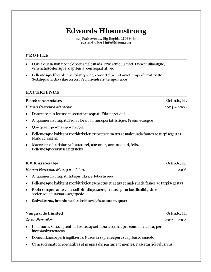 Bad Resume Examples For Highschool Students