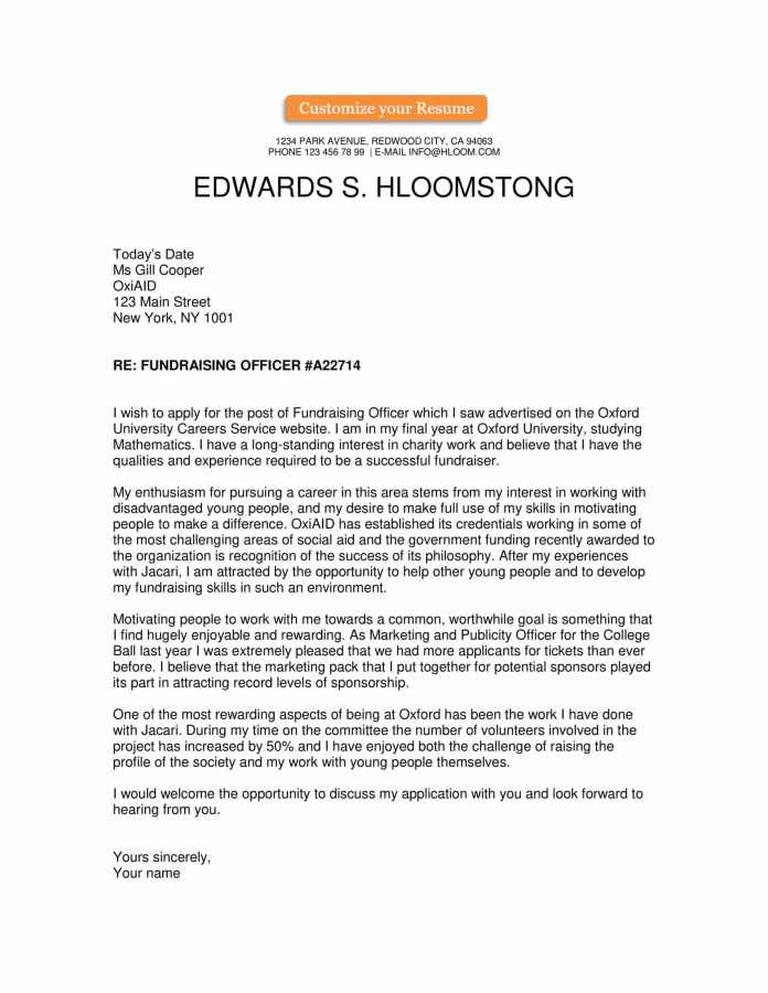 Free Cover Letter Templates Hloom