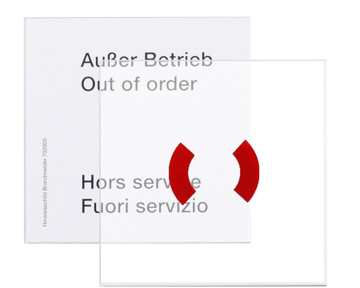 Náhradní tabulka skla, pro kryt tlačítkového hlásiče
