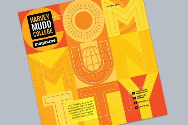 Cover of spring 2020 Harvey Mudd College Magazine