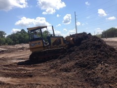 Preparing site before excavating to place gravity sewer infrastructure