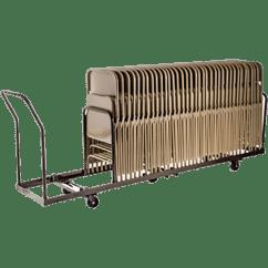 Folding Chair Dolly Hardwood Office Mat Vertical Storage 50 Capacity Hmc Display