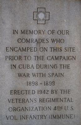 Spanish War Veterans Historical Marker