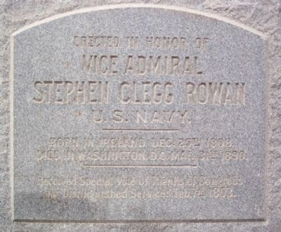 Vice Admiral Stephen Clegg Rowan Historical Marker