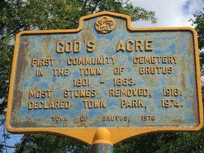 Gods Acre Historical Marker
