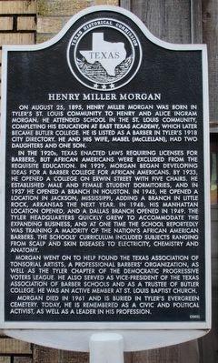 Henry Miller Morgan Historical Marker