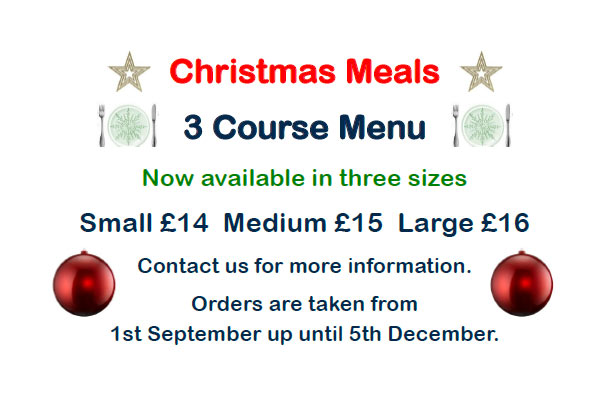 Christmas meal offer