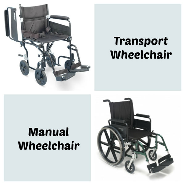 Transport Wheelchairs VS Standard Manual Wheelchairs  HME