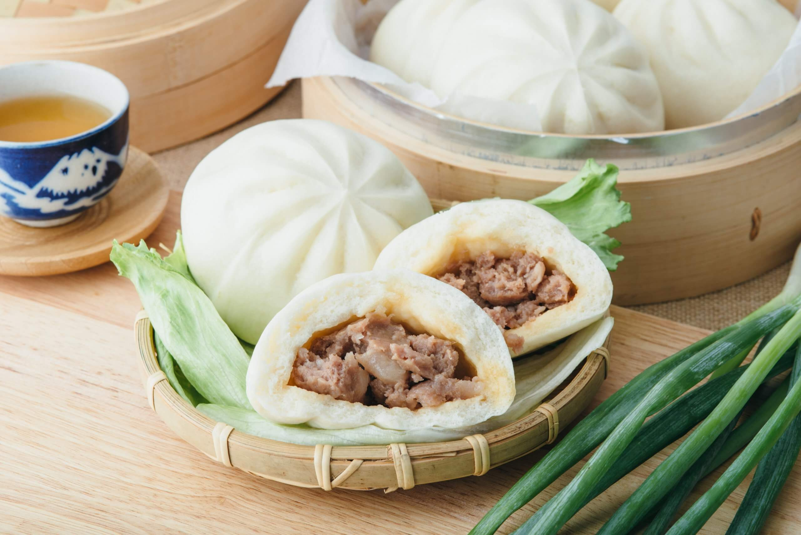 meat bun made by automatic bao forming machine